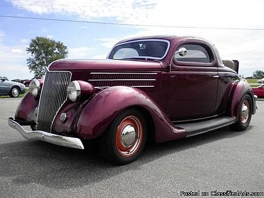1936 ford 3 window coupe chopped for sale elkhart indiana for 1936 ford 3 window for sale
