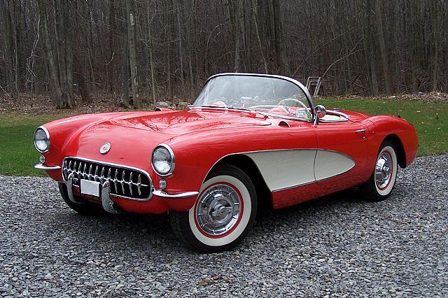 Venetian Red 1957 Corvette