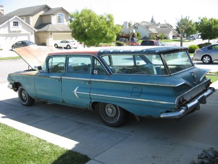 1960 chevrolet kingswood for sale salinas california. Black Bedroom Furniture Sets. Home Design Ideas