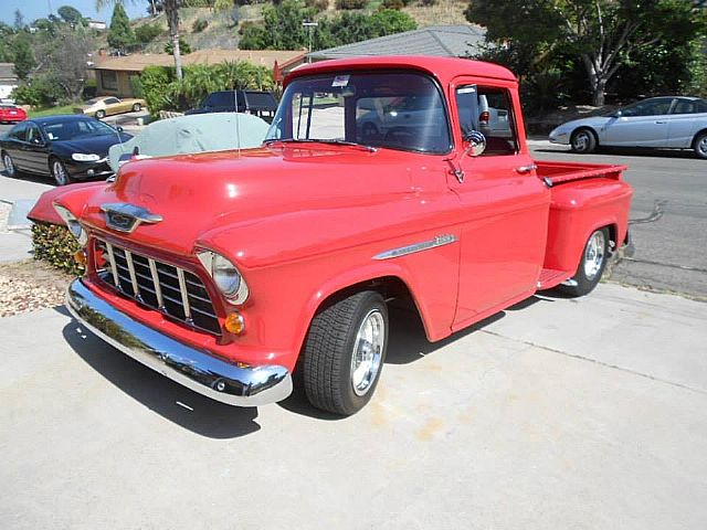 1955 chevrolet custom cab pickup for sale san diego california. Black Bedroom Furniture Sets. Home Design Ideas