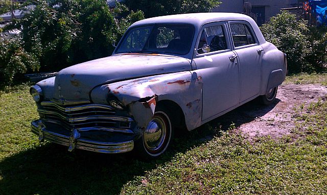 49 plymouth project. car runs but needs starter. Body shaved ...
