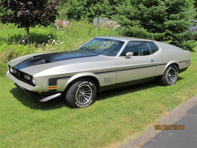 1972 ford mustang mach 1 for sale appleton wisconsin. Black Bedroom Furniture Sets. Home Design Ideas