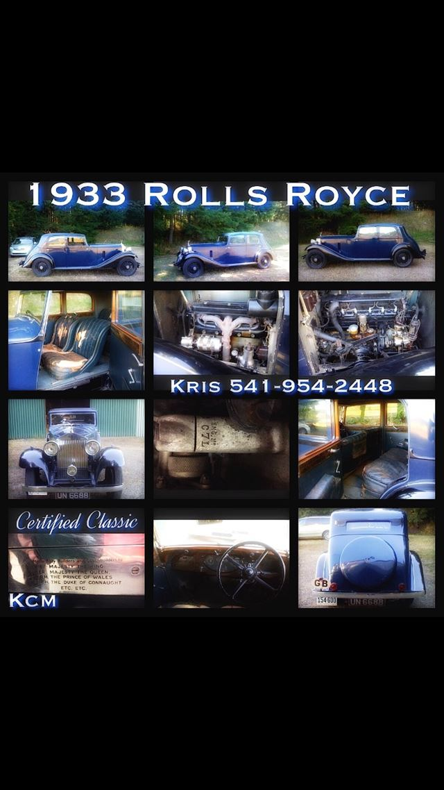 1933 Rolls Royce Car