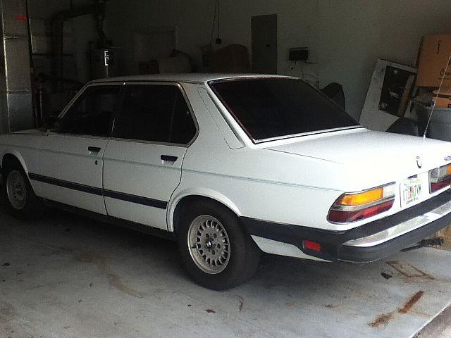 1987 bmw 528e for sale sarasota florida for Sarasota motor vehicle registration