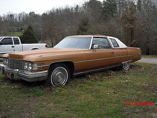 1974 Cadillac Coupe DeVille For Sale chattanooga, Tennessee