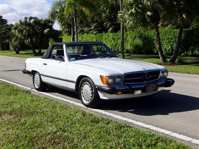1988 Mercedes 560SL For Sale Delray Beach, Florida