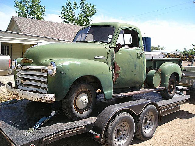 1952 chevy 3 4 ton 64000 original miles inline 6 cyl runs good